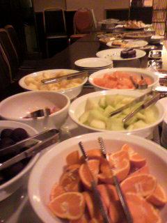 ホテル1階のディナー